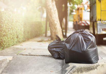 Curbside garbage bags