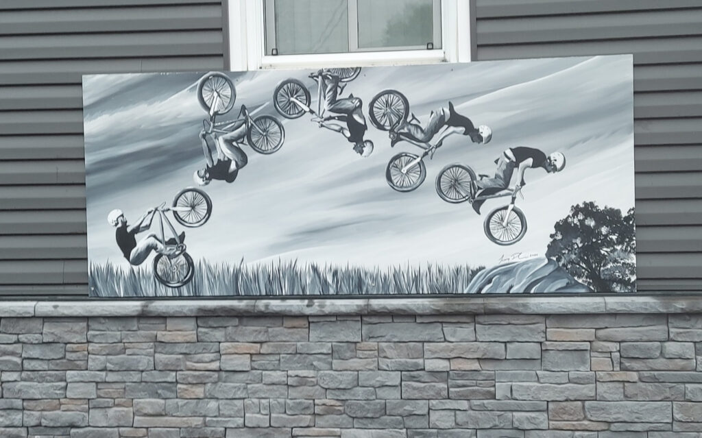 Local Mural: Cyclist