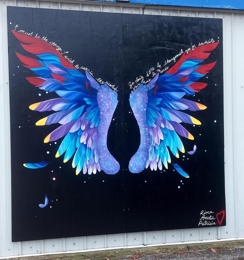 Local Mural: Wings of Hope
