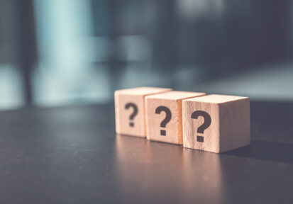 Frequently asked question concept, question mark cubes