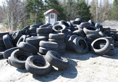Tire collection at landfill