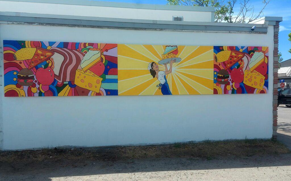 Local mural: kaleidoscope of colours